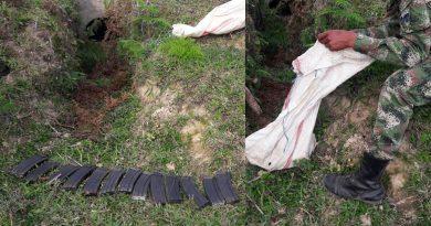 Unidades del Ejército, incautan material de guerra en Campoalegre.