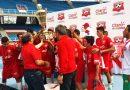 Atlético Huila sub 15, levantó la Copa Claro.