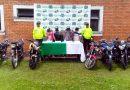 Fuerte operativo policial en Pitalito, permite la recuperación de siete motos hurtadas.