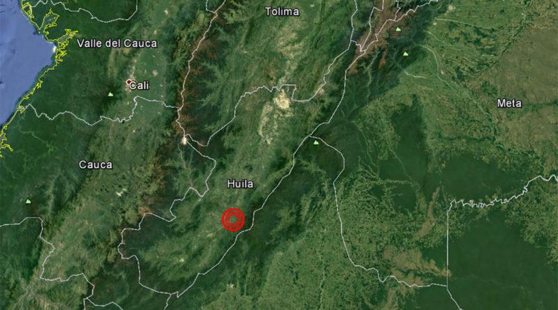 Último temblor en Colombia, tuvo como epicentro Garzón en el centro del Huila.