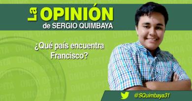 OPINIÓN   ¿Qué país encuentra Francisco?.