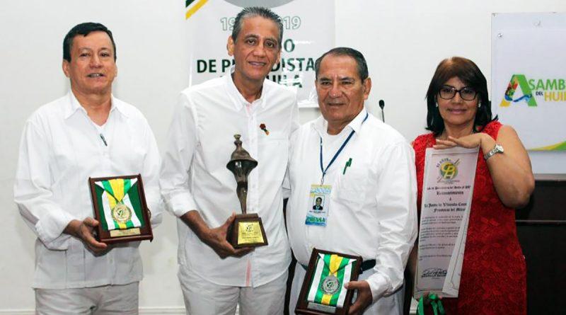 Círculo de Periodistas del Huila entregó exaltaciones y Premio excelencia 2019.