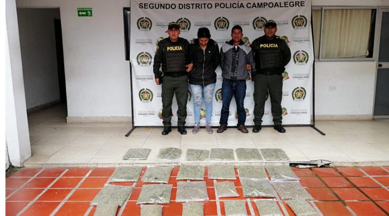 Incautan 26 kilos de estupefacientes en las vías del departamento del Huila