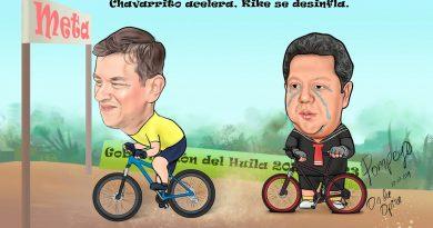 Caricatura | Chavarrito acelera, kike se desinfla